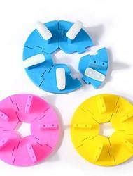 1ks nástroje na nehty plasty lotus kulatý tvar imobilizační praxe rám barevný náhodný