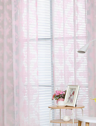 cheap -Grommet Top Double Pleat Pencil Pleat Curtain Modern, Printed Graphic Prints Bedroom Polyester Blend Material Sheer Curtains Shades Home