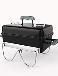 Недорогие -Гриль для кемпинга Походная горелка Походная плита Все для приготовления пищи на улице Пригодно для носки Металл для Походы