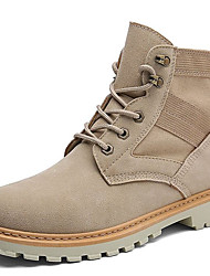 cheap -Men's Shoes Nubuck leather / Suede Fall / Winter Comfort / Combat Boots / Fluff Lining Boots Mid-Calf Boots Light Brown