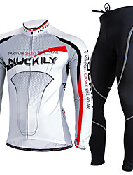 cheap -Nuckily Cycling Jersey with Tights Men's Long Sleeves Bike Clothing Suits Thermal / Warm Ultraviolet Resistant Breathable Comfortable