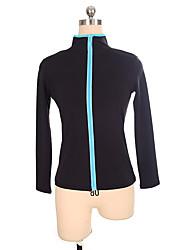 abordables -Vestes Polaires de Patinage Artistique Femme / Fille Patinage Hauts / Top Bleu Spandex Elastique Utilisation / Exercice Tenue de Patinage