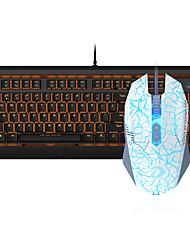 Недорогие -dareu проводная механическая клавиатура мышь голубые переключатели 1,8 м семь ключей 1600 точек на дюйм
