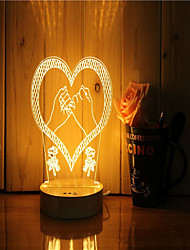cheap -1 Set Of 3D Mood Night Light Hand Feeling Dimmable USB Powered Gift Lamp Pull Hook