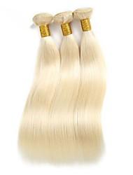 cheap -3 Bundles Brazilian Hair Straight Remy Human Hair / Human Hair Ombre Hair Weaves Human Hair Weaves Human Hair Extensions