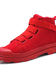 cheap -Men's Shoes Nubuck leather / Suede Winter Comfort Sneakers Black / Red