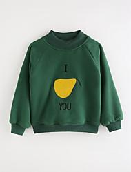 abordables -Tee-shirts Fille Couleur Pleine Géométrique Coton Automne Dessin Animé Vert