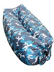 Недорогие -Надувной диван На открытом воздухе Походы Складной Терилен Полиэстер для 1 человек Все сезоны Синий