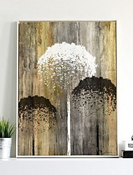 cheap -Botanical Oil Painting Wall Art,Alloy Material With Frame For Home Decoration Frame Art Dining Room Bedroom