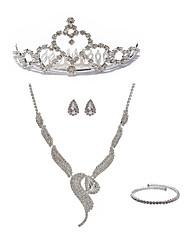 preiswerte -Damen Strass Diamantimitate Schmuck-Set Körperschmuck 1 Halskette Ohrringe - Modisch Europäisch Fuchs Ketten Braut-Schmuck-Sets Für