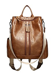 cheap -Women's Bags Oxford Cloth Backpack Zipper for Outdoor All Seasons Brown Black