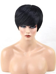 cheap -Human Hair Capless Wigs Human Hair Straight Pixie Cut Side Part Short Machine Made Wig Women's