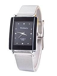 Недорогие -WOSAWE Муж. / Жен. Наручные часы Китайский Имитация Алмазный сплав Группа На каждый день / Мода / минималист Серебристый металл / SSUO CR2025