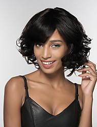cheap -Human Hair Capless Wigs Human Hair Kinky Curly African American Wig Side Part Medium Machine Made Wig Women's