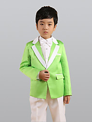 cheap -Green Polyester Ring Bearer Suit - Six-piece Suit Includes  Jacket Waist cummerbund Vest Shirt Pants Bow Tie