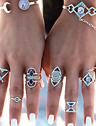 cheap -Women's Knuckle Ring Statement Rings , Metallic Fashion Alloy Geometric Jewelry Carnival Going out