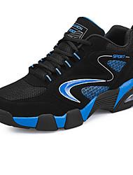 Недорогие -Черный Синий Красный-Унисекс-Повседневный-Ткань-На плоской подошве-Удобная обувь-Кеды
