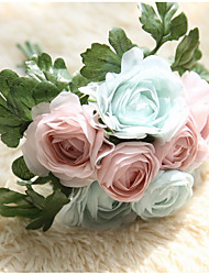 cheap -Artificial Flowers 1 Branch Modern Style Roses Tabletop Flower
