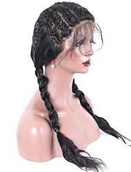abordables -Cheveux Rémy 360 frontal Perruque Cheveux Malaisiens Ondulation naturelle Avec Mèches Avant 180% Densité Non traité Long Femme Perruque