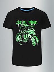 preiswerte -Herrn Totenkopf Motiv - Punk & Gothic T-shirt, Rundhalsausschnitt Baumwolle