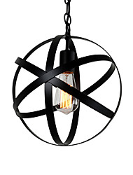 cheap -Vintage Industrial Metal Spherical Pendant Lights Dining Room  Kitchen Cafe Hanging Lighting Fixture