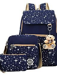 baratos -Mulheres Bolsas Tela de pintura Conjuntos de saco Estampa / Ziper Rosa / Azul Escuro / Roxo