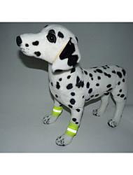 billige -Kat Hund Fod accenter Refleksbånd Hundetøj Ensfarvet Orange Gul Terylene Kostume For kæledyr Afslappet/Hverdag Lolita