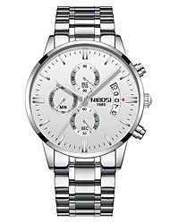 cheap -Men's Dress Watch Fashion Watch Casual Watch Japanese Quartz Calendar / date / day Chronograph Noctilucent Stainless Steel Band Luxury