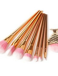 cheap -8 pcs Makeup Brush Set Pony Synthetic Hair Eco-friendly Professional Soft Synthetic Resin Eye Face Nose