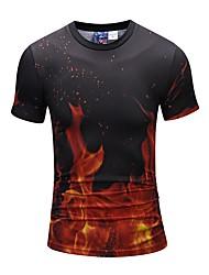 economico -T-shirt Da uomo Quotidiano Serata Casual Moda città Punk & Gotico Per tutte le stagioni,Con stampe Rotonda Poliestere Maniche corte