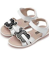 abordables -Fille Chaussures Cuir Eté Confort Sandales Scotch Magique pour Décontracté Habillé Blanc Rose