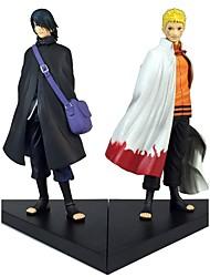 abordables -Las figuras de acción del anime Inspirado por Naruto Sasuke Uchiha 18 CM Juegos de construcción muñeca de juguete