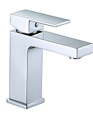 baratos -Moderna Conjunto Central Separada Válvula Cerâmica Monocomando e Uma Abertura Cromado, Torneira pia do banheiro