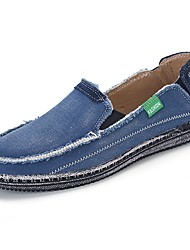 cheap -Men's Shoes Canvas Spring Fall Comfort Loafers & Slip-Ons for Casual Blue Brown Gray