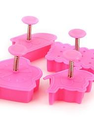 abordables -Outils de cuisson Plastique Ustensile de Cuisine Pour Gâteau / Pour Cookie Moules à gâteaux 4pcs