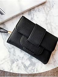 cheap -Women's Bags PU Wallet Zipper for Casual Office & Career All Seasons Blue Black Gray Light Purple