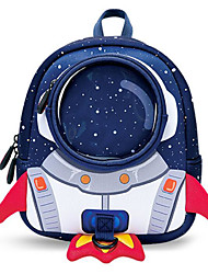 Infantil Bolsas Poliéster ABS + PC Mochila Escolar Ziper para Casual Todas as Estações Azul Escuro Roxo