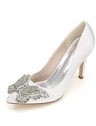 economico -Per donna Scarpe Raso Primavera / Estate Decolleté scarpe da sposa A stiletto Appuntite Con diamantini Blu / Champagne / Avorio