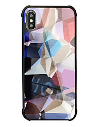 economico -Custodia Per Apple iPhone X iPhone 8 Resistente agli urti Fantasia/disegno Custodia posteriore Geometrica Resistente Vetro temperato per