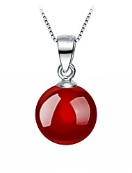 cheap -Women's Lovely Drop Onyx Pendant Necklace  -  Basic Sweet Red Necklace For Party Daily