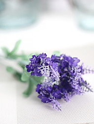 cheap -1 Branch Polyester Plastic Lavender Tabletop Flower Artificial Flowers