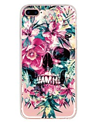 billiga -fodral Till Apple iPhone X iPhone 8 Plus Mönster Skal Blomma Dödskalle Mjukt TPU för iPhone X iPhone 8 Plus iPhone 8 iPhone 7 Plus iPhone