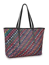 cheap -Women Bags Sheepskin Shoulder Bag Zipper for Casual Office & Career All Season Rainbow Black