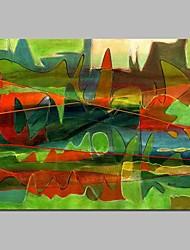 Pintados à mão Abstrato Horizontal,Modern Tela Pintura a Óleo Decoração para casa 1 Painel