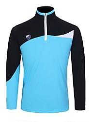 Per uomo Manica lunga Golf T-shirt Allenamento Traspirabilità Golf