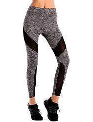 cheap -Women's Patchwork Cotton Acrylic Thin Stitching Legging,Striped Patchwork Gray Black
