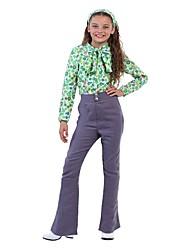 abordables -Hippie Disfraz Niño Blusa / Falda Pantalones Verde Cosecha Cosplay Manga Larga Campana Slips