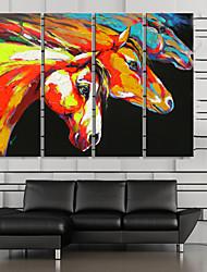 abordables -Toile Moderne, Quatre Panneaux Toile Format Vertical Imprimé Décoration murale Décoration d'intérieur