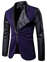 cheap -Men's Blazer - Color Block, Cut Out