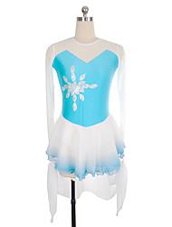 abordables -Robe de Patinage Artistique Femme / Fille Patinage Robes Bleu Ciel Spandex Non Elastique Utilisation / Exercice Tenue de Patinage Couleur